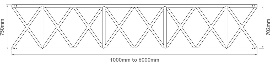 750mm X-Beam - Apollo Scaffold Services: Aluminium