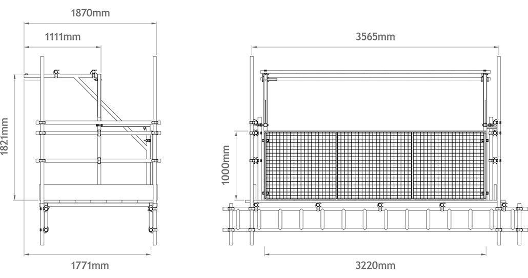 Scaffolding Sizes Standard : Loading bay gates apollo scaffold services aluminium