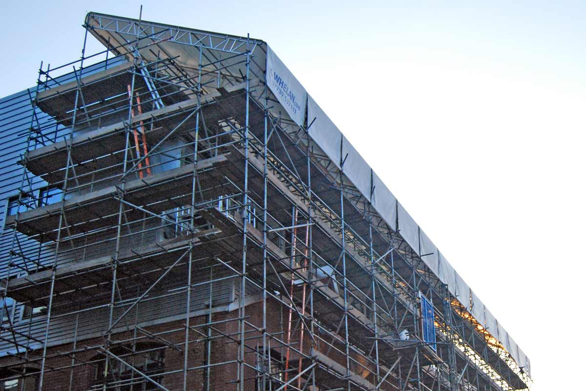 Roof Scaffolding Products : Roof scaffold a temporary has been erected