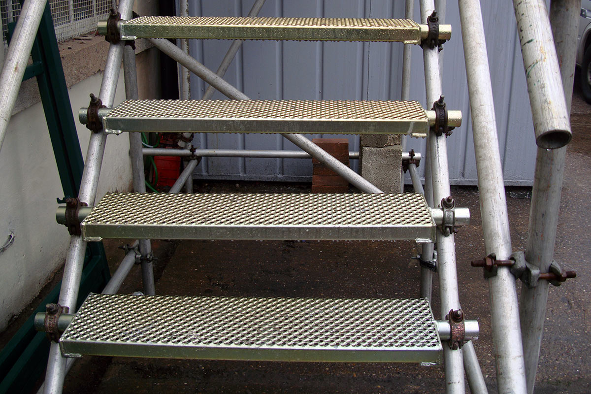 ... Apollo Scaffold Services Stair Treads U0026 Public Access Steps   Image ...